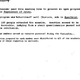 Minutes, 1975-03-05. Death,...