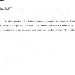 Minutes, 1975-10-08. Death,...
