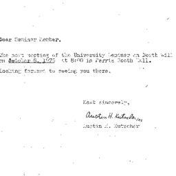 Announcements, 1975-10-08. ...