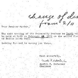 Announcements, 1976-02-18. ...