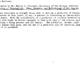 Minutes, 1977-01-26. Death,...