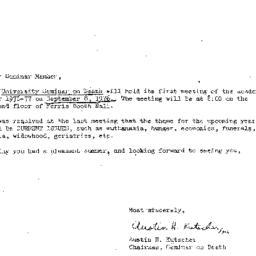Announcements, 1976-09-08. ...