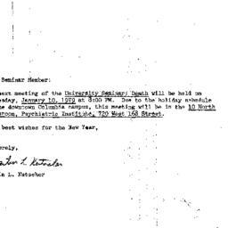 Announcements, 1979-01-10. ...