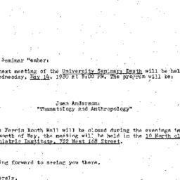 Announcements, 1980-05-14. ...