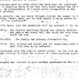 Minutes, 1981-02-11. Death,...