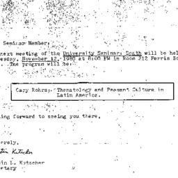 Announcements, 1980-11-12. ...