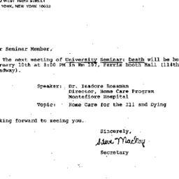 Announcements, 1982-02-10. ...
