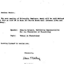 Announcements, 1982-03-10. ...
