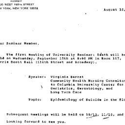 Minutes, 1983-08-10. Death,...