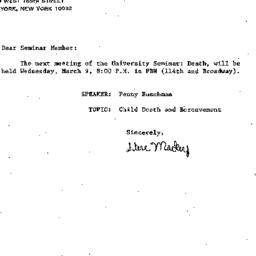 Announcements, 1983-03-09. ...