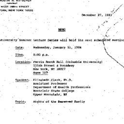 Announcements, 1983-12-27. ...