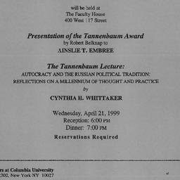 Announcements, 1999-04-21. ...