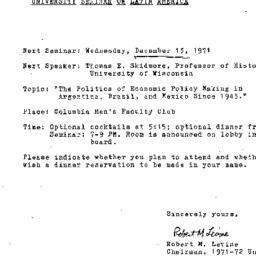 Announcements, 1971-11-20. ...
