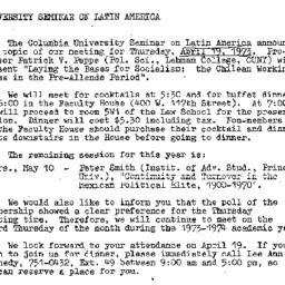 Announcements, 1973-04-19. ...