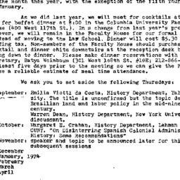 Announcements, 1973-09-20. ...