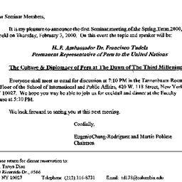 Announcements, 2000-02-03. ...