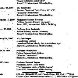 Announcements, 1999-09-30. ...
