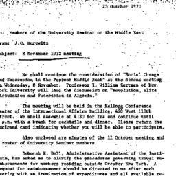 Announcements, 1972-10-23. ...
