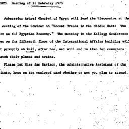 Announcements, 1975-02-12. ...