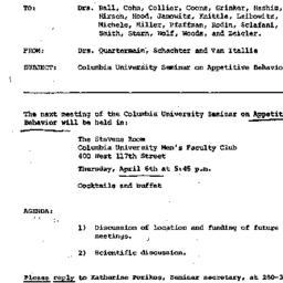 Announcements, 1972-04-06. ...
