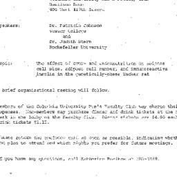 Announcements, 1972-09-14. ...