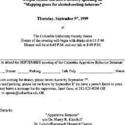 Announcements, 1999-09-09. ...