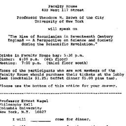Announcements, 1974-03-22. ...