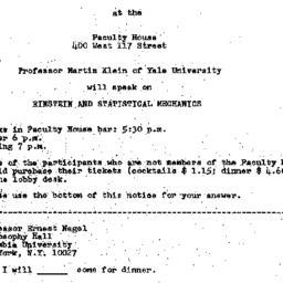 Announcements, 1974-04-11. ...