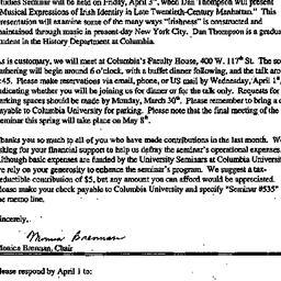 Announcements, 1998-03-21. ...