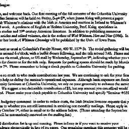 Announcements, 1999-08-20. ...