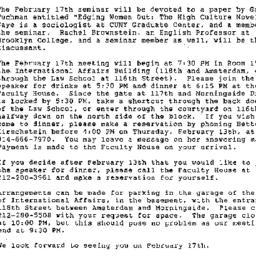 Correspondence, 1986-02-01....