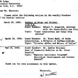 Correspondence, 1984-02-27....