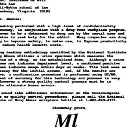 Handouts, 1993-02-25. Drugs...