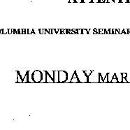 Announcements, 1998-03-16. ...