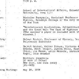 Minutes, 1976-04-20. Twenti...