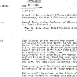 Announcements, 1976-05-20. ...