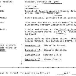 Announcements, 1977-10-25. ...