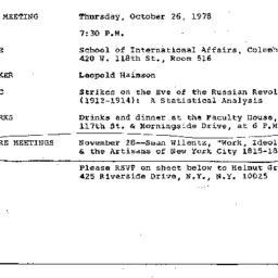 Announcements, 1978-10-26. ...