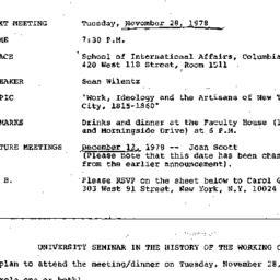 Announcements, 1978-11-28. ...