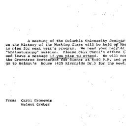 Announcements, 1980-05-15. ...