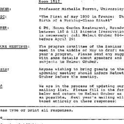 Announcements, 1983-04-26. ...