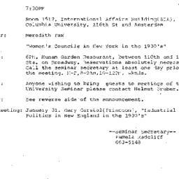 Announcements, 1984-12-12. ...
