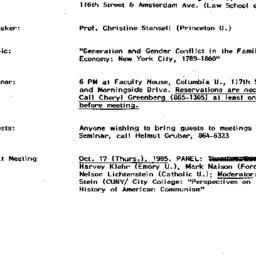Announcements, 1985-09-25. ...