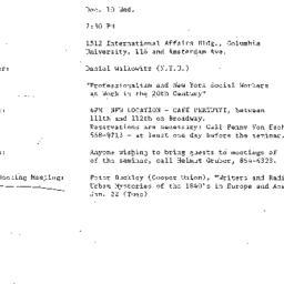 Announcements, 1986-12-10. ...