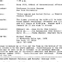 Announcements, 1993-01-05. ...