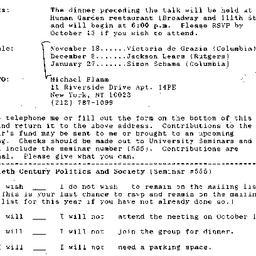 Announcements, 1993-10-01. ...