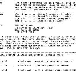 Announcements, 1994-12-05. ...