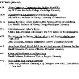 Schedules, Twentieth-Centur...