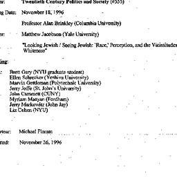 Minutes, 1996-11-18. Twenti...