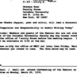 Announcements, 1978-03-20. ...